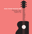 Guitar Text Neck vector image vector image