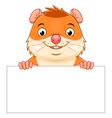 Hamster banner vector image vector image