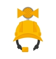helmet mining light protection vector image vector image