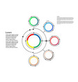 infographic template circle design with arrows vector image vector image
