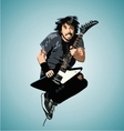 Jumping Guitarist vector image