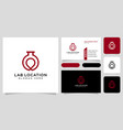 lab location logo design and business card vector image