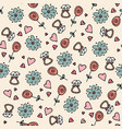 love symbols seamless pattern happy valentine s vector image vector image
