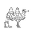mechanical camel animal engraving vector image vector image