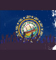 new hampshire state flag with audience vector image vector image