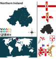 Northern Ireland map world vector image vector image