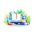 online reading and online library concept vector image vector image
