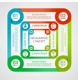 Optical infographic concept vector image