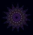 pattern flower golden mandala vector image vector image