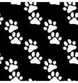 Paw zoo pattern Black and white for zoo vector image vector image