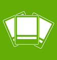photos icon green vector image