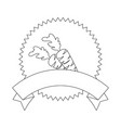 seal stamp with carrots icon vector image