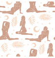 seamless pattern with female characters body vector image vector image