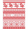 Seamless Tall xmas pattern with MITTENS vector image vector image