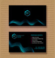 set business card template for a company with a vector image vector image