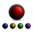 set of multicolored glass buttons vector image vector image