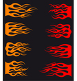 set orange and red tribal flames vector image