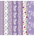 spring lavender seamless pattern vector image vector image