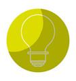 sticker energy light bulb icon vector image vector image