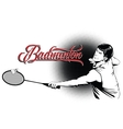 Summer kinds of sports Badminton vector image vector image