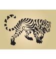 tiger ornament decoration 3 vector image vector image