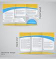 tri-fold brochure design brochure template design vector image