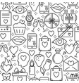valentines day romantic seamless pattern vector image