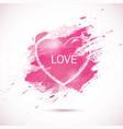 watercolor-pink-love vector image