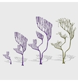 Whimsical trees corals with shade decoration vector image vector image