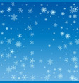 winter blue sky with falling snow snowflake vector image