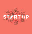 digital red startup vector image