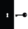 key and keyhole vector image