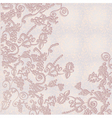 tender floral card vector image
