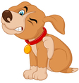 A young Pit Bull puppy scratching an itch vector image