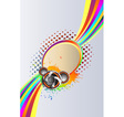 Abstract rainbow music Background vector image