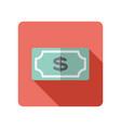 dollar money banknote icon vector image