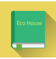 Paper book about green home vector image