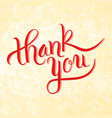 thank you lettering card design template for vector image
