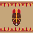 Tribal style card with mask vector image