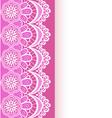pink background with a strip of lace and place vector image