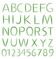 Simple Font Type vector image