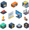 3D Printing Isometric Icons Collection vector image vector image
