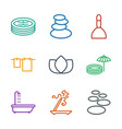 9 spa icons vector image vector image