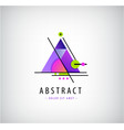 abstract trendy triangle logo geometric vector image