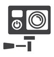 action camera solid icon device and electronic vector image vector image