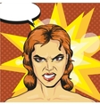angry infuriated woman in vector image