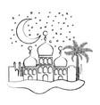 arabic castles in the night scene vector image vector image