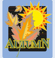 autumn seasonals postes with autumn leaves autumn vector image