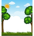 background scene with trees and grass vector image vector image