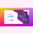 bashower neon landing page vector image vector image